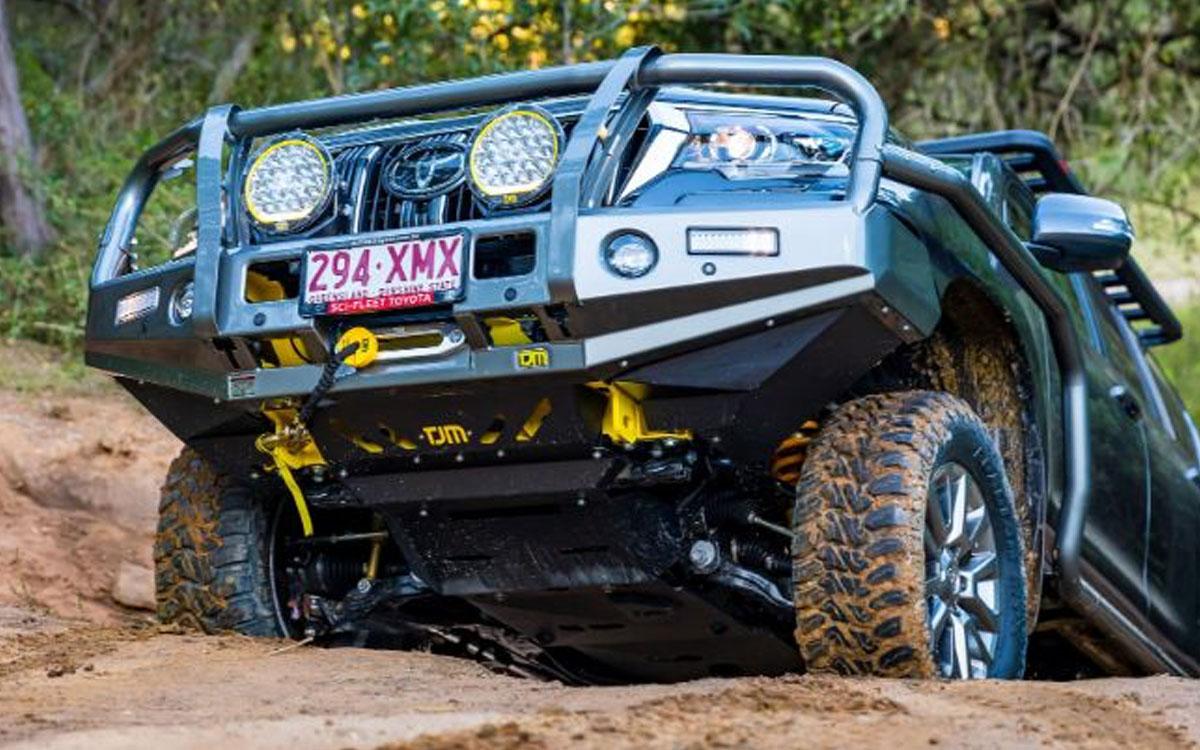 Toyota Prado with TJM Bull bar & vehicle protection bendigo